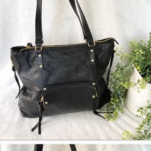 KOOBA XL black tote leather super nice zippered